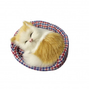 dragonaur Kid Children Cute Plush Toy Simulation Sleeping Cat with Mat Nest Sounding size Medium
