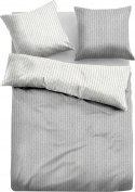 Tom Tailor reversible duvet cover set cotton flannelette light grey-silver size 80x80 cm / 155x220 cm