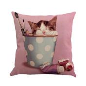 squarex Cute Animals Pet Dog Pattern Cushion Cover For Sofa Nursery Home Decor