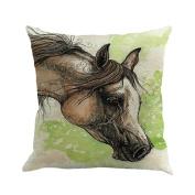 squarex Creative Pillow Fashion Cartoon Animal Horse Home Decor Cotton Linen Cushion
