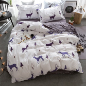 YGJT Elk Forest Design Kids Duvet Cover with Pillowcase Double Quilt Bedding Set Soft Easy Care