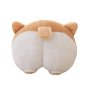 squarex Novelty Corgi Bottom Warm Pillow Dog Buttocks Hand Cushion Plush