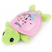 Pueri Cartoon Turtle Projection Toys Constellation Night Light Plush Toy for Baby Kids