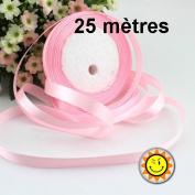 1 Roll Pink Satin 10 mm per 25 metres