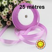 1 Roll Pink Purple Satin 10 mm per 25 metres