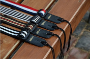 ZHJZ Adjustable Nylon Ukulele Strap Guitar Straps Stripes Pattern Stripes