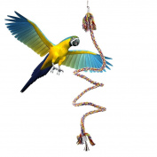 Fengh Parrot Brid Multicolor Climbing Rope Toy with Bell