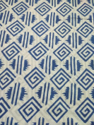 Handicraftofpinkcit blue flower printed Cotton Fabric Indian Stylish Printed Fabric Craft Material Curtains Dressing 5 Yards