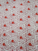 Handicraftofpinkcity white Colour leaf Yellow Flower Cotton Fabric Indian Stylish Printed Fabric Craft Material Curtains Dressing 5 Yards