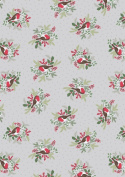 Lewis & Irene A countryside Winter, Robbins on silver Fat Quarter