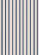 Lewis & Irene A countryside Winter, Navy Stripe Fat Quarter