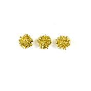 12 Decorative Balls 5.1cm Gold