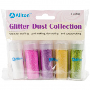 Allton Micro Fine Velvet Glitter Dust Collection, Multi-Colour, 12.7 x 15.24 x 2.54 cm