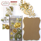 Adorn-It Art Play MDF You and Me Word Plaque with Words Kit