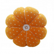 Sewing Needle Pin Cushion Pumpkin Shaped Holder Wrist Strap Safety Craft Tool Random Colour