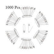 1000PCS Silver Safety Pins, 2.5cm Safety Pins Bulk, For Home, Office Use, Sewing Pins, Fabric, Fashion, Craft Pins, Marathon, First Aid Kit, Nappy Pins