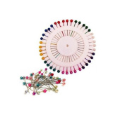 200X Pearlized Bead Pins Rosette Hijab Craft Dress Making Sewing Scarf Pearlised Needlework Pearl Head Pins Card New