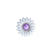 Daisy Nickel Plated Screwback Conchos with White Baked on Enamel and Turquoise Cabochon Centre. by Concho Embellishment