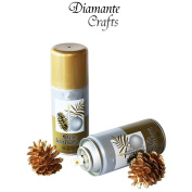 Metallic Paint Spray Lacquer Crafts Christmas Decorative - Silver Gold Bronze