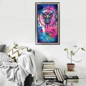 Bovake DIY 5D Diamond Embroidery Owl Rhinestone Painting Cross Stitch Home Decor