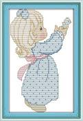 Chreey About Kids Growth Series - Release Cross Stitch Fashion Crafts Home Art Decoration [17x26cm]