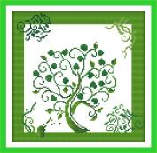 Chreey Life Tree - Cross Stitch Fashion Crafts Home Art Decoration [31x31cm]