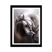 Gemini_mall® Cute Horse Cross Stitch 5D Diamond Cat Embroidery Painting Animal Rhinestone Cross Stitch Decor DIY