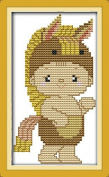 Chreey 12 Zodiac Animals - Cute Horse Baby Cross Stitch Fashion Crafts Home Art Decoration [10x17cm]