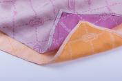 MINÙ – Muslin Squares 70 x 70 cm/Swaddle 70 x 70 cm, Vegetable Cashmere (Orange/Purple) Orange/Purple