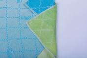 MINÙ – Muslin Squares 70 x 70 cm/Swaddle 70 x 70 cm, Vegetable Cashmere (Orange/Purple) Azzurro/Verde