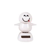 Christmas Solar Powered Dancing Animal Swinging Dancer Car Decor Emoji Snowman By MML
