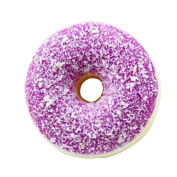 Colourful Doughnut Cream Scented Squishy Slow Rising Squeeze Strap Kids Stress Relief Soft Toy Gift MML