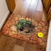Slip Mat 3D Pattern Bedroom Kitchen Bathroom Mat Absorbent Rectangular 40x60cm,A-40x60cm