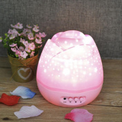 Bescita Multicolor Projector Night Light Rotating Starry LED Projection Moon Star Lamp