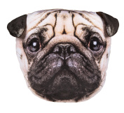 Adorably Cute Pug Dog Decoration Cushion - Number One Girl Girls Boy Boys Children Kids Child Great Gift Present Idea for Birthdays Christmas Xmas Stocking Fillers Top Ups Treats Rewards Pocket Money Easter Fun Toys & Games - One Supplied
