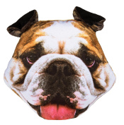 Adorably Cute Bulldog Dog Decoration Cushion - Number One Girl Girls Boy Boys Children Kids Child Great Gift Present Idea for Birthdays Christmas Xmas Stocking Fillers Top Ups Treats Rewards Pocket Money Easter Fun Toys & Games - One Supplied