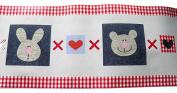 3x Lollipop Lane Hugs & Kisses Self Adhesive Border for Nursery Playroom Length 5M per roll