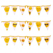 Ready Steady Bed® Emoji Girl Design Children's Polycotton Bunting Room Decoration