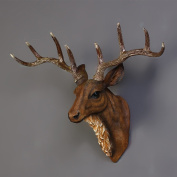MMM American Retro Wall Decoration Resin Deer Head Wall Hanging Creative Bar Cafe Wall Decorations