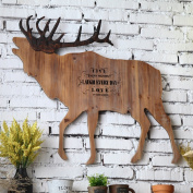 MMM Creative Deer Board Wall Hanging Wall Decorations Bar Restaurant Pendant Living Room Room Personality Ornaments