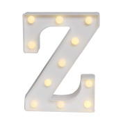 GB UNICORN Wall Letters Light At Symbol Battery Marquee Letter Lights Alphabet Light Up Sign for Wedding Home Party Bar Decoration(White Z)