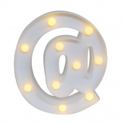 GB UNICORN Wall Letters Light At Symbol Battery Marquee Letter Lights Alphabet Light Up Sign for Wedding Home Party Bar Decoration(White @)