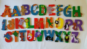 6 letter name - WOODEN ANIMAL ALPHABET STYLE