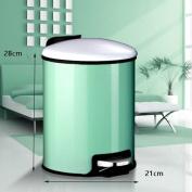 Ali Vasos de basura espesos cocina de pedal de acero inoxidable con baño sala de estar cubierto con mute green