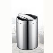 Ali European style shaking stainless steel trash cans household flip toilet living room