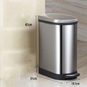 Ali Stainless steel pedal trash cans living room kitchen bathroom10L