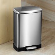 Ali Stainless steel pedal trash cans living room kitchen bathroom12L