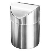 Ali 304 stainless steel desktop trash can flip the desktop trash