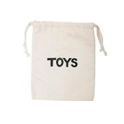 Tellkiddo Fabric Bag Storage Toys Small, Cotton, Black/White, 1 x 23 x 27 cm