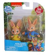Peter Rabbit Toys Figures Figurines Collectable Peter Rabbit and Cotton Tail Rabbit 7 cm - Great Christmas Present Gift